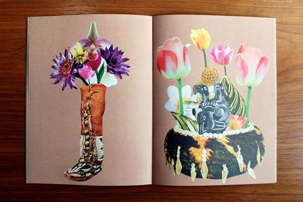 Flower Arrangements Vol. 1, zine featuring floral collages by Ted Feighan.