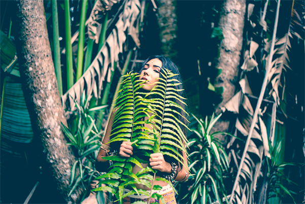 Rainforest fashion shoot with Gypsy Stone.