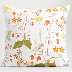 My Favorite Colour 'Cape Retro' botanical cushion