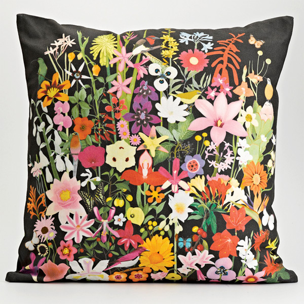 My Favorite Colour 'South African Wildflowers' botanical cushion