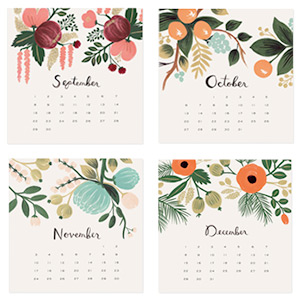 Rifle Paper Co 2013 Botanical Desk Calendar