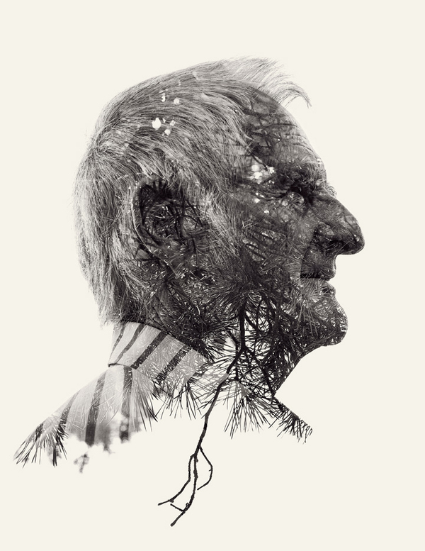 "Double-exposed photo from Christoffer Relander's ""We Are Nature"" series"