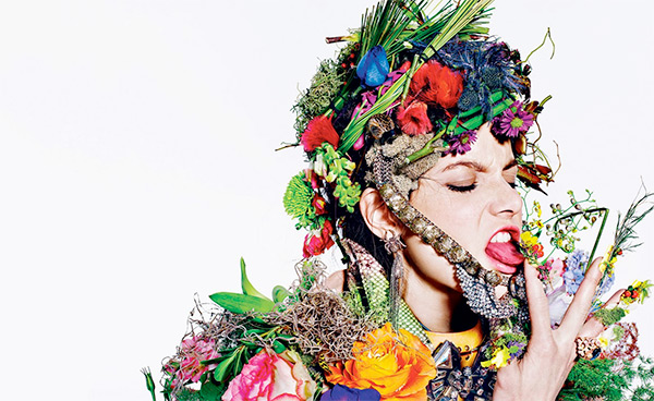 "Richard Burbridge's ""Diamond In The Roughage"" botanical editorial fashion shoot"