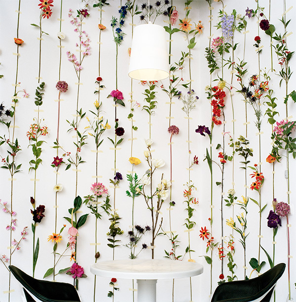Front design group for Tensta Konsthall, floral wallpaper
