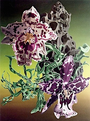 Orchid painting by Gary Brewer