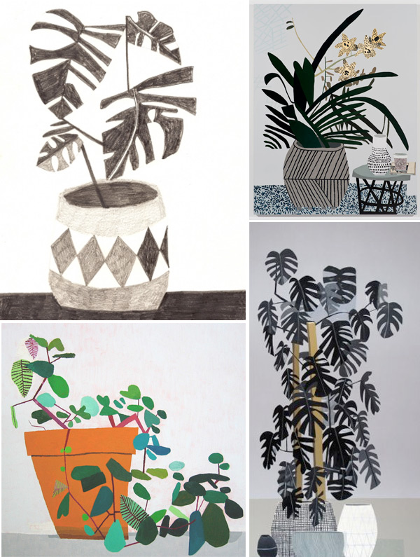 Indoor plants illustration by Jonas Wood