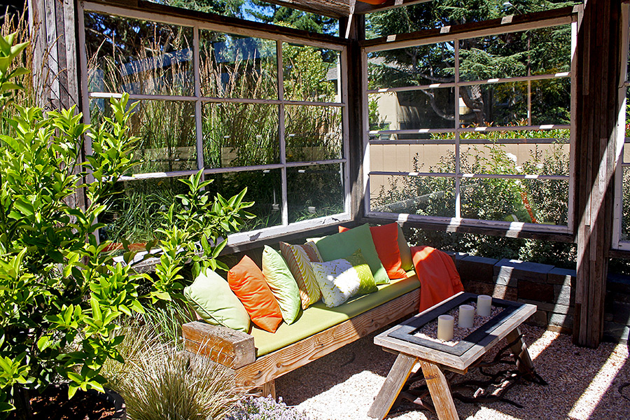 Outdoor studio spread at Sunset Magazine Headquarters
