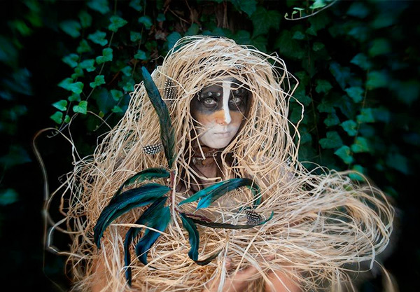 Photo of tribal plant costume by Lori Pond