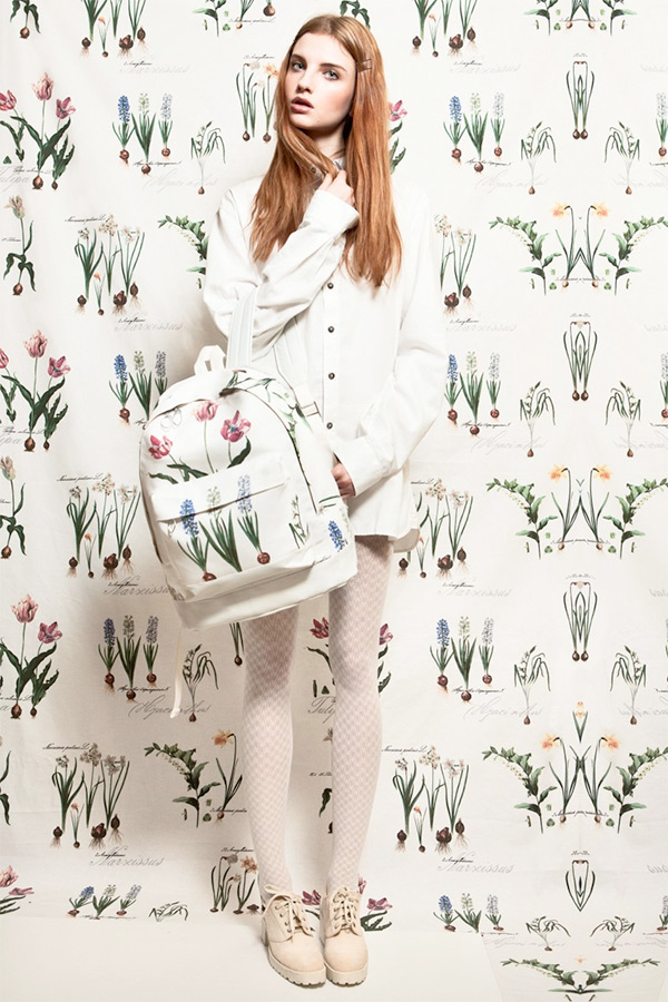Botanical backpack by Sweta Yaremko