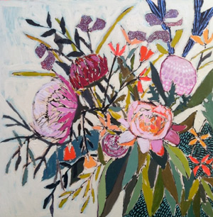 Flower bouquet painting by Lulie Wallace