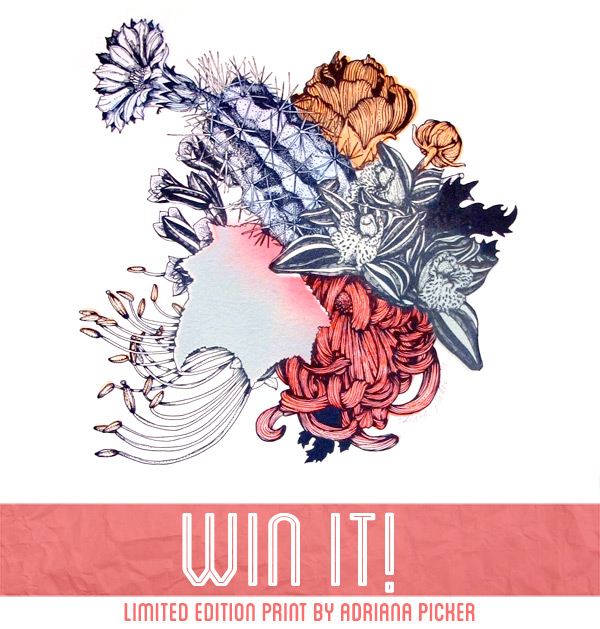 Win a botanical print by Adriana Picker