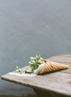 Flower ice cream cone by Parker Fitzgerald