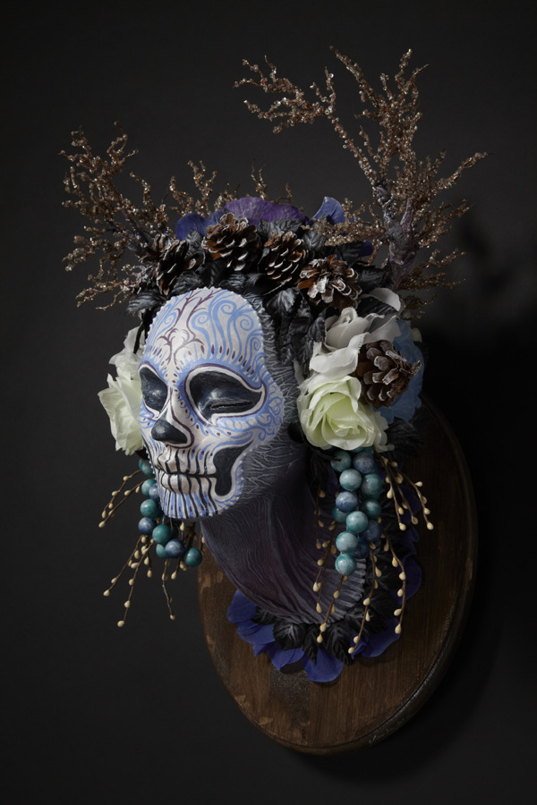 Winter muertita floral skull by Krisztianna