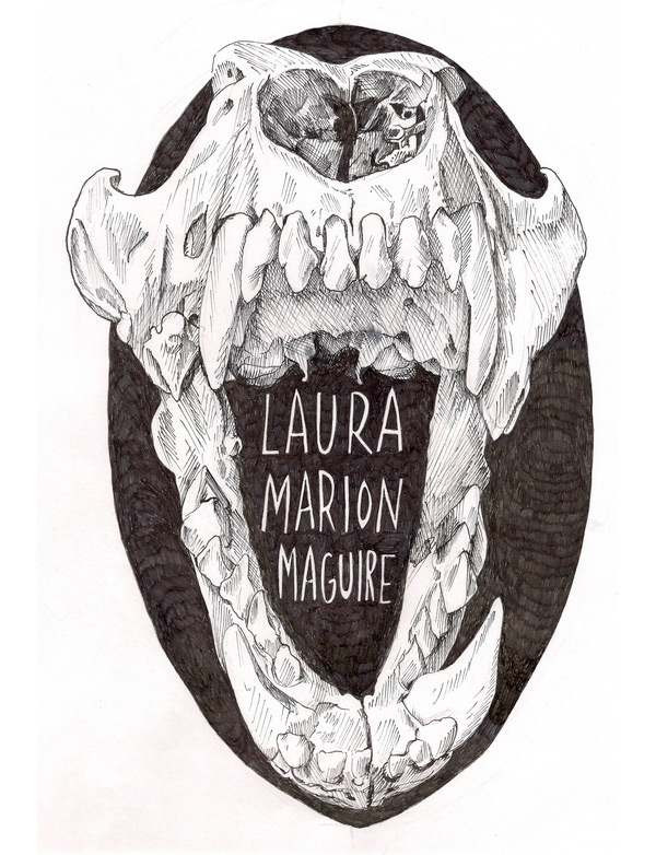 Black and white illustration by Laura Marion Maguire.